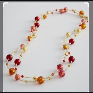 Red Envelope Murano glass bead necklace